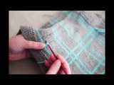 How to Make Knitted Plaid Easily