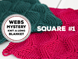 WEBS Mystery Knit-A-Long Square #1